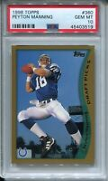 1998 Topps Football #360 Peyton Manning Rookie Card RC Graded PSA Gem Mint 10