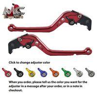 Kawasaki ZRX1100 / 1200 99-07 Long Adjustable Motorcycle Levers Brake Clutch Red