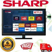 Sharp Black 24-Inch HR Ready 720p Smart LED TV/DVD Combo Freeview Netflix HDMI