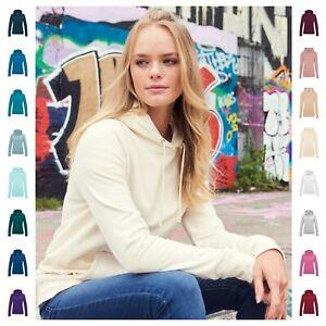 Womens Hooded Sweatshirt Girlie Fit Plain Hoodie Pullover Hoody 31 Colours 8?18