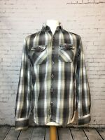 Superdry Men's Checked Long Sleeve Casual Shirt Size MEDIUM (F29)