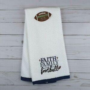 Guest Hand Towel Faith Family Football Terry Cloth