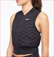 new NIKE GOLF Aeroloft women jacket vest AA3575 running black XL MSRP $180