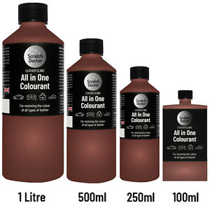 ALL IN ONE MEDIUM BROWN Leather Colourant Repair Recolour Dye Stain Paint Colour