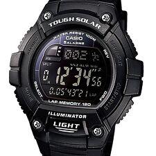 Casio W-S220-1BV Tough Solar Sport Running Lap Digital Watch
