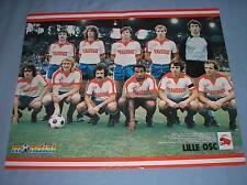 LILLE OSC 1981 POSTER EQUIPE ERIC PECOUT NANTES MONDIAL