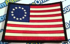 Betsy Ross American 1776 USA Flag Embroidered Patch with Full Stars Hook Velcro®