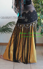 Satin Harem Pants  Gypsy Tribal Fusion Belly Dance Full and Long -  Antique Gold