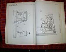 REGISTRATORE di cassa e controllo cassa brevetto. Spaulding, New Jersey, USA. 1900 vintage