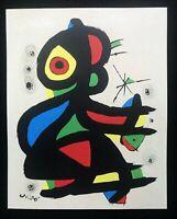 Joan Mirò - Progetto per affissione, litografia, 30x38 cm, 1980
