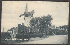 Postcard Thornton Cleveleys nr Blackpool Lancashire the Marsh Mill windmill 1905