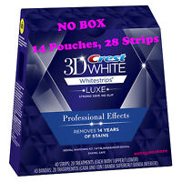 28 Strips, 14 Pouches Crest 3D Whitestrips Professional Effects Teeth Whitening