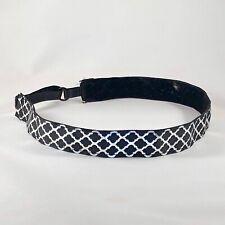 BANDIT BANDS Black With Silver Foil Adjustable No Slip Headband