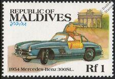 1954 MERCEDES BENZ 300SL Gull-Wing Mint Car Stamp (1983 Maldives)