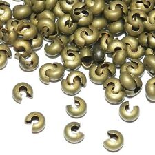 M942L2 Antiqued Bronze 4mm Round Crimp Bead Cover Jewelry Component 20pc