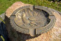 wunderschöner alter Aschenbecher Messing Fasan Naturmotiv Sammlerstück