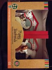 Wooden Puppy Bookends - Non-Toxic Paint Designed In The U.K - *NIB*