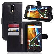 Custodia FLIP cover per Motorola Moto G4 Plus case stand+tasche libretto booklet