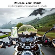 Phone Holder Usb Charger Mirror Stand Bracket Mount Support Motorcycle Mobile