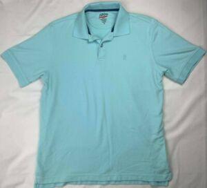 Izod Men's Blue Short Sleeve Golf Polo Shirt - Size Medium - Free Shipping ⛴!