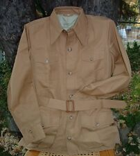 Vtg Hunting World Nyc Safari Bush Jacket Brown 44 - Pleated - Nos Mib