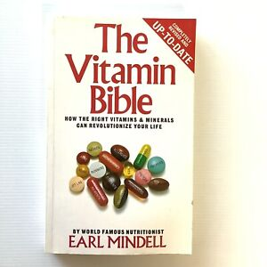 The Vitamin Bible By Nutritionist Earl Mindell Paperback Book 1997 Reprint