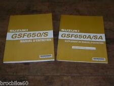MANUEL REVUE TECHNIQUE D ATELIER SUZUKI GSF 650 BANDIT / S / SA 2005 - 2006