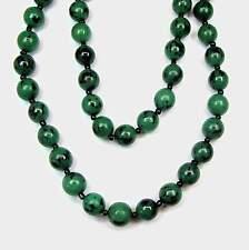 NEU 100cm HALSKETTE 12mm PERLEN smaragd/grün HOLZ Endloskette PERLENKETTE Natur