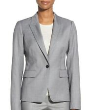 HUGO BOSS JELENNA PINSTRIPE ONE BUTTON SUIT JACKET NWT$695 MISSES 12