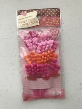 Japanese Bento Heart Long Picks  (30picks) NEW