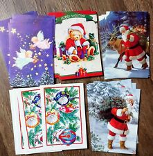 Lot 100 Vintage Style Christmas Greeting Post Cards 5 different designs