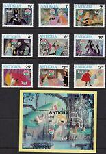 "Antigua - 592-601 - Disney ""Sleeping Beauty"" - 9 + souvenir sheet - 1980 - B9484"