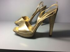 Women's Rene Caovilla gold heels size 39