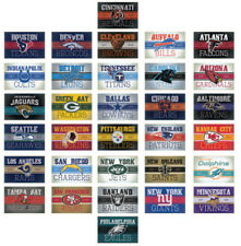 PICK YOUR TEAM, or COMPLETE SET of NFL DECALS VINTAGE RUSTIC STYLE