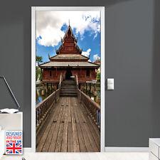 Buddha Temple path - DIY Interior Home Decor Door Mural Stickers Film 90cm Width