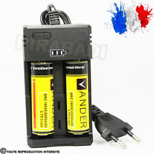 CHARGEUR RS-93 + 2 PILES ACCU RECHARGEABLE 18650 3.7v 6000mAH BATTERY BATTERIE