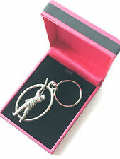 Gamekeeper Keyring Handcrafted from Solid Pewter In The UK + Pink Gift Box