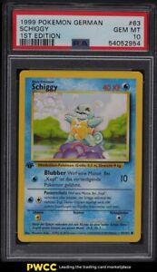 1999 Pokemon German 1st Edition Squirtle Schiggy #63 PSA 10 GEM MINT