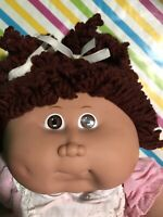 1986 Cabbage Patch Kid Popcorn Hair Doll Brunette HM 14