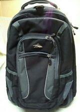 "High Sierra Black/Grey Rolling Suitcase & Detach Backpack 20 x 14"" Flight Travel"