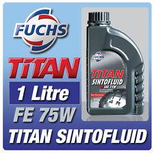 FUCHS TITAN SINTOFLUID FE 1 LITRE 75W GEAR OIL CAR SINTO FLUID for GEARBOX