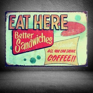 Retro Metal Tin Sign COFFEE Art Poster Cafe Pub Bar Home Wall Decor 10