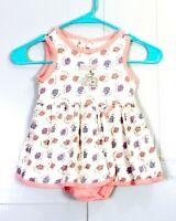 vtg 80s 90s Disney Mickey Mouse baby Mickey's Seed Company Dress Romper 24 mos.