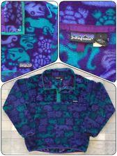 Patagonia Vintage Aztec Animal Fleece Pullover L Large MENS T- Snap jacket USA