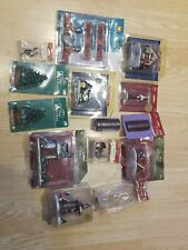 14 PIECE  Lemax Village Square O'Well CHRISTMAS VILLAGE FIGURES Trees Houses