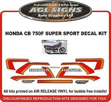 1982  HONDA CB 750F SUPER SPORT DECAL SET, reproductions  CB 750 F