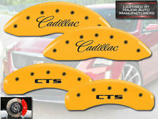 "2009-2019 ""Cadillac CTS"" JE5 Front + Rear Yellow MGP Brake Disc Caliper Covers"