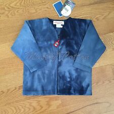 NWT unisex 4a/102 Clayeux cotton zip cardigan sweater jacket French boutique