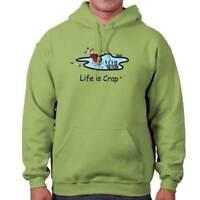 Life is Crap Golf Bag Funny Shirt Cool Gift Cute Sarcastic Hooded Sweatshirt