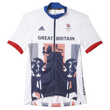 adidas Team GB Official Women's Rio Olympics 2016 SS Cycling Jersey - Large -New